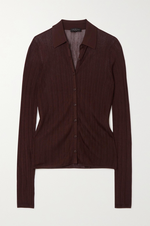 rag & bone Pacey ribbed-knit shirt