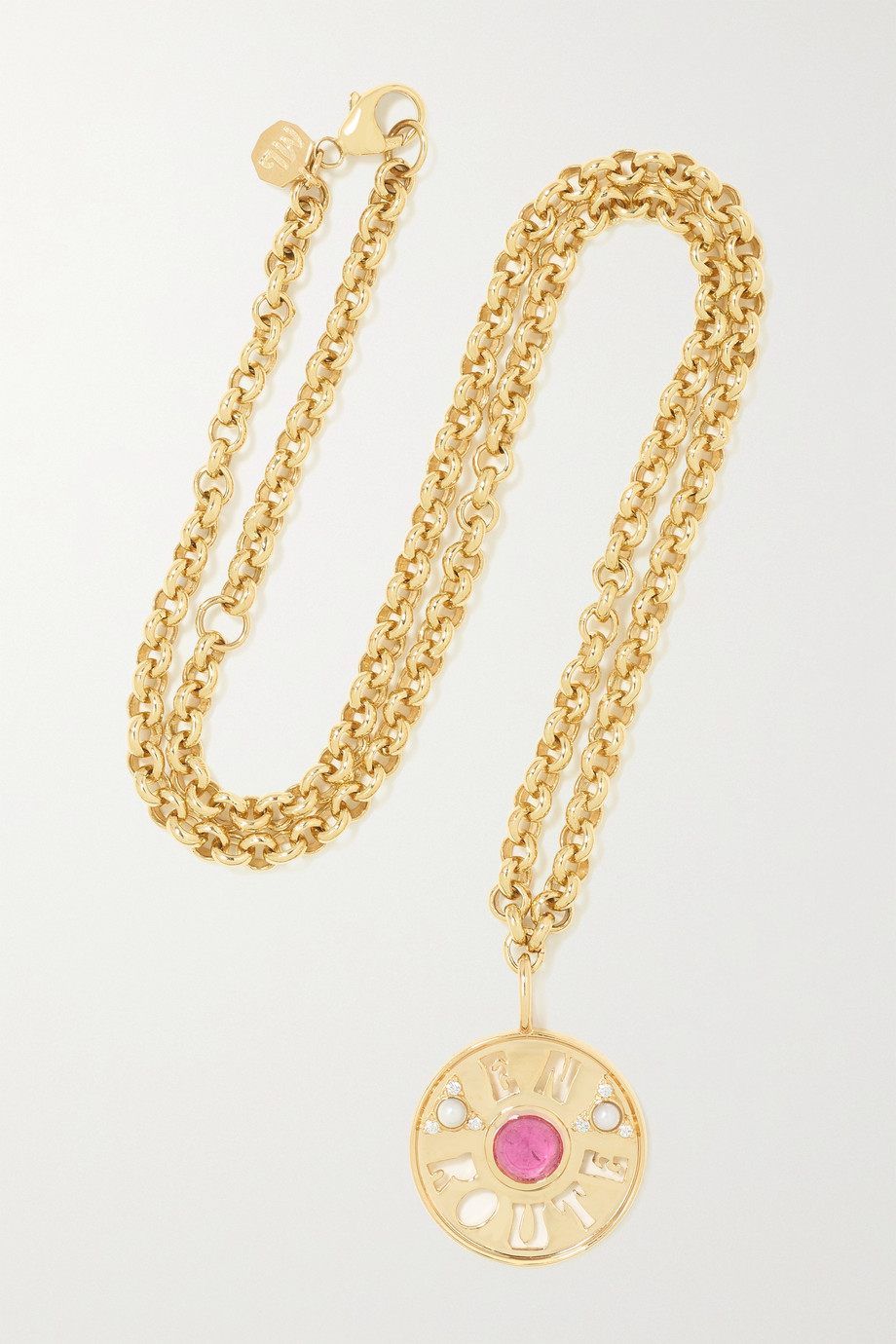 Marlo Laz En Route 14-karat gold multi-stone necklace