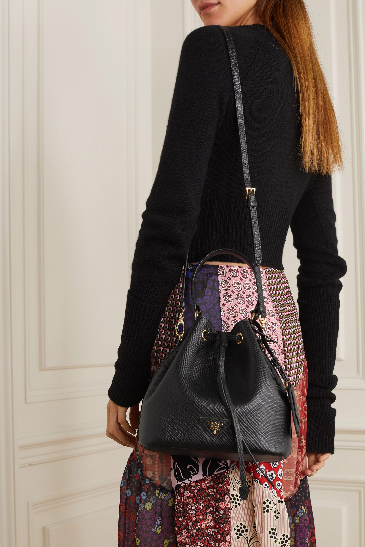 Prada Textured-leather bucket bag