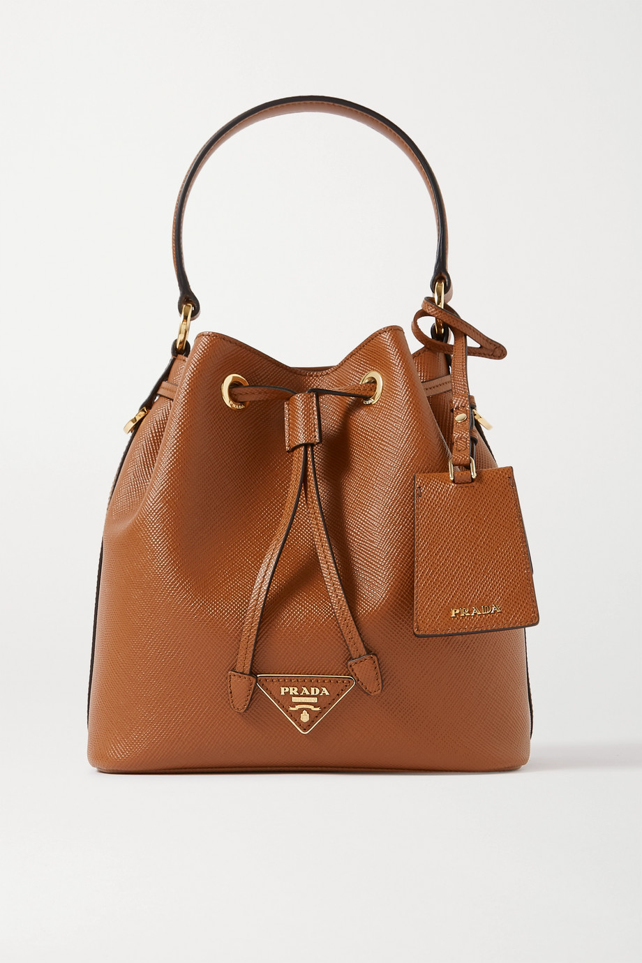 Prada Textured-leather bucket bag
