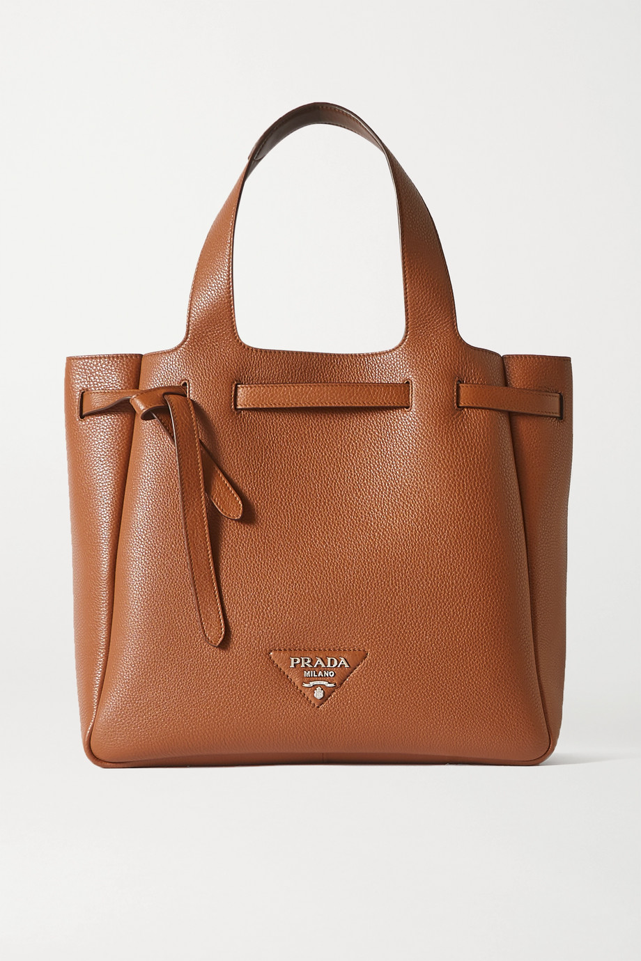 Prada Diano large textured-leather tote