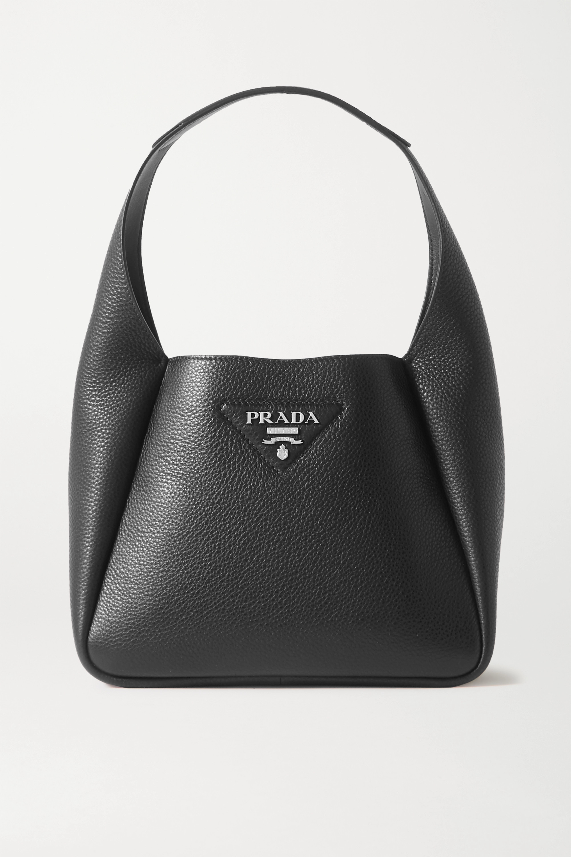 Prada Daino small textured-leather tote