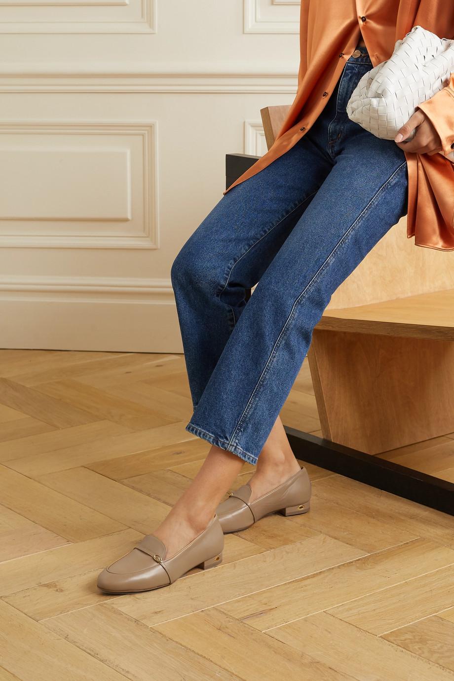 Jennifer Chamandi Fabrizio leather loafers