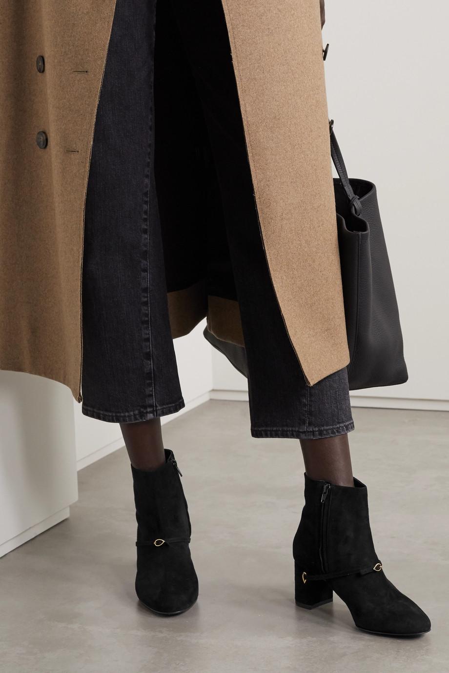 Jennifer Chamandi Danilo 65 Ankle Boots aus Veloursleder