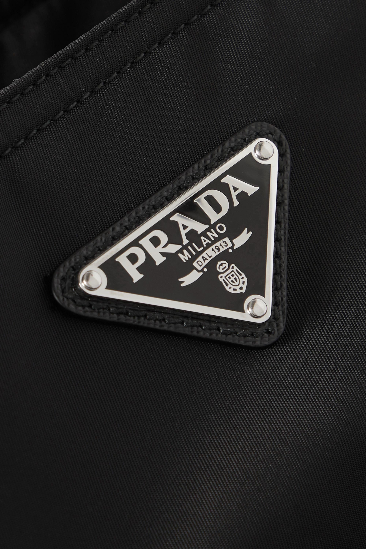 Prada Vela leather-trimmed nylon tote
