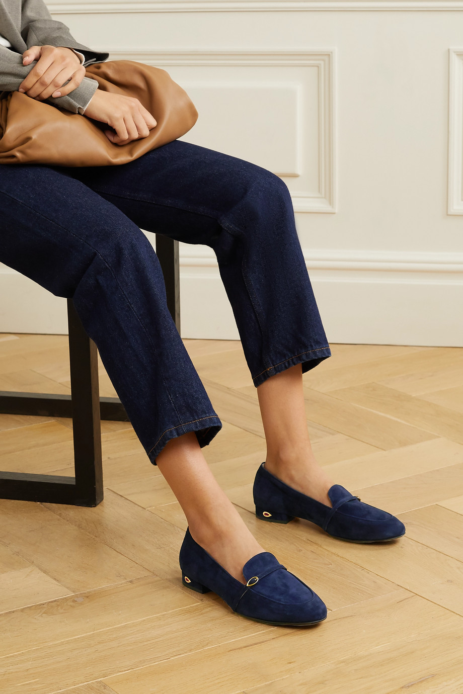 Jennifer Chamandi Fabrizio suede loafers
