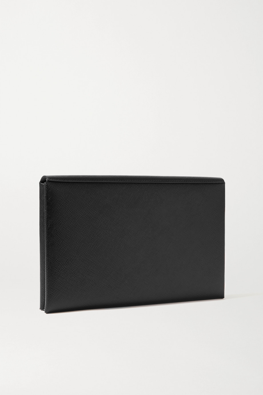 Prada Textured-leather travel wallet
