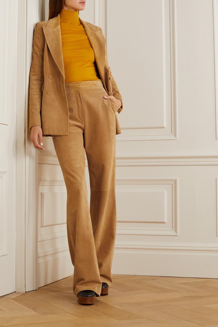 Gabriela Hearst Vesta suede wide-leg pants
