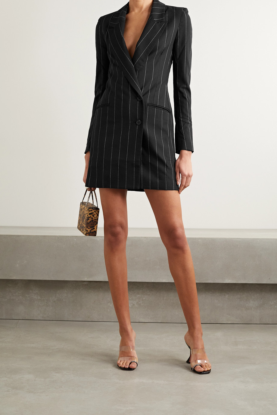 The Range Zoot pinstriped woven mini dress