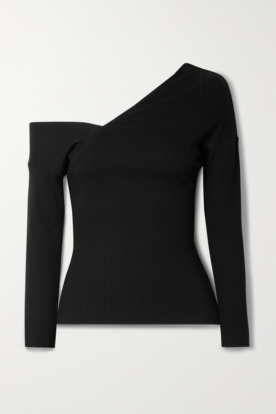 The Range Alloy off-the-shoulder ribbed stretch-knit top