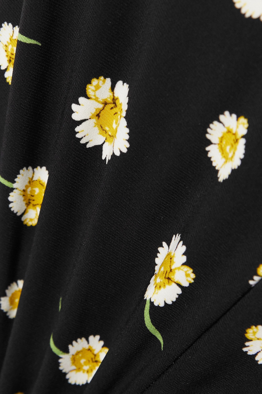 Black Floral-print Stretch-jersey Jumpsuit | Norma Kamali