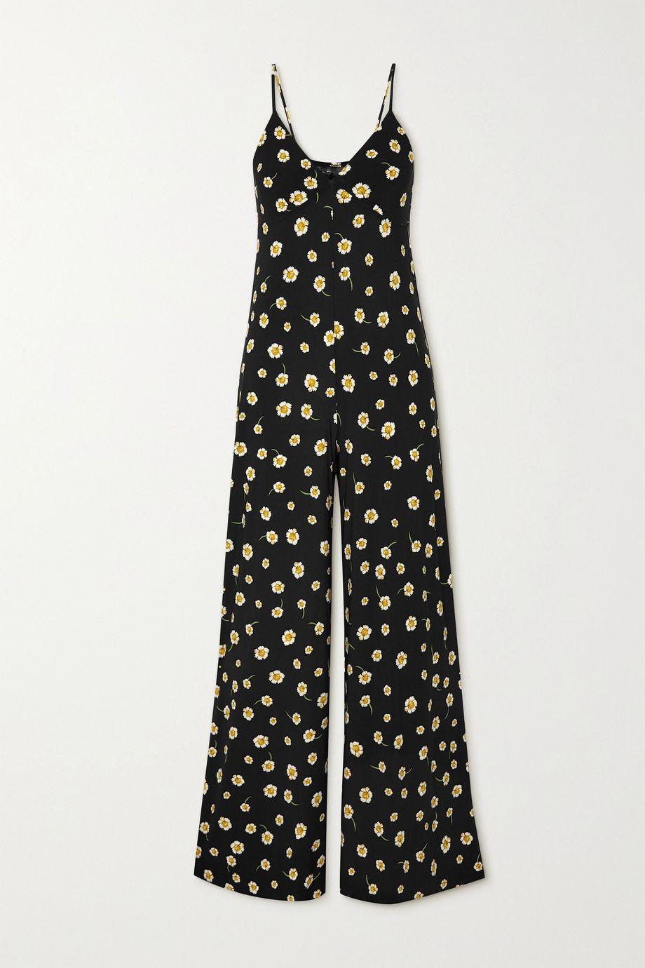 Norma Kamali Floral-print stretch-jersey jumpsuit