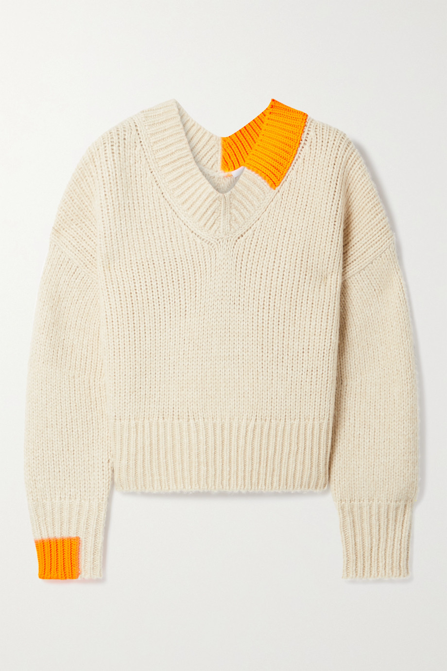 Helmut Lang Two-tone knitted sweater