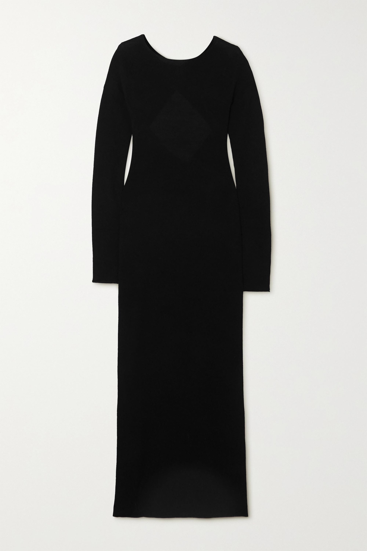 Helmut Lang Twisted open-back wool maxi dress