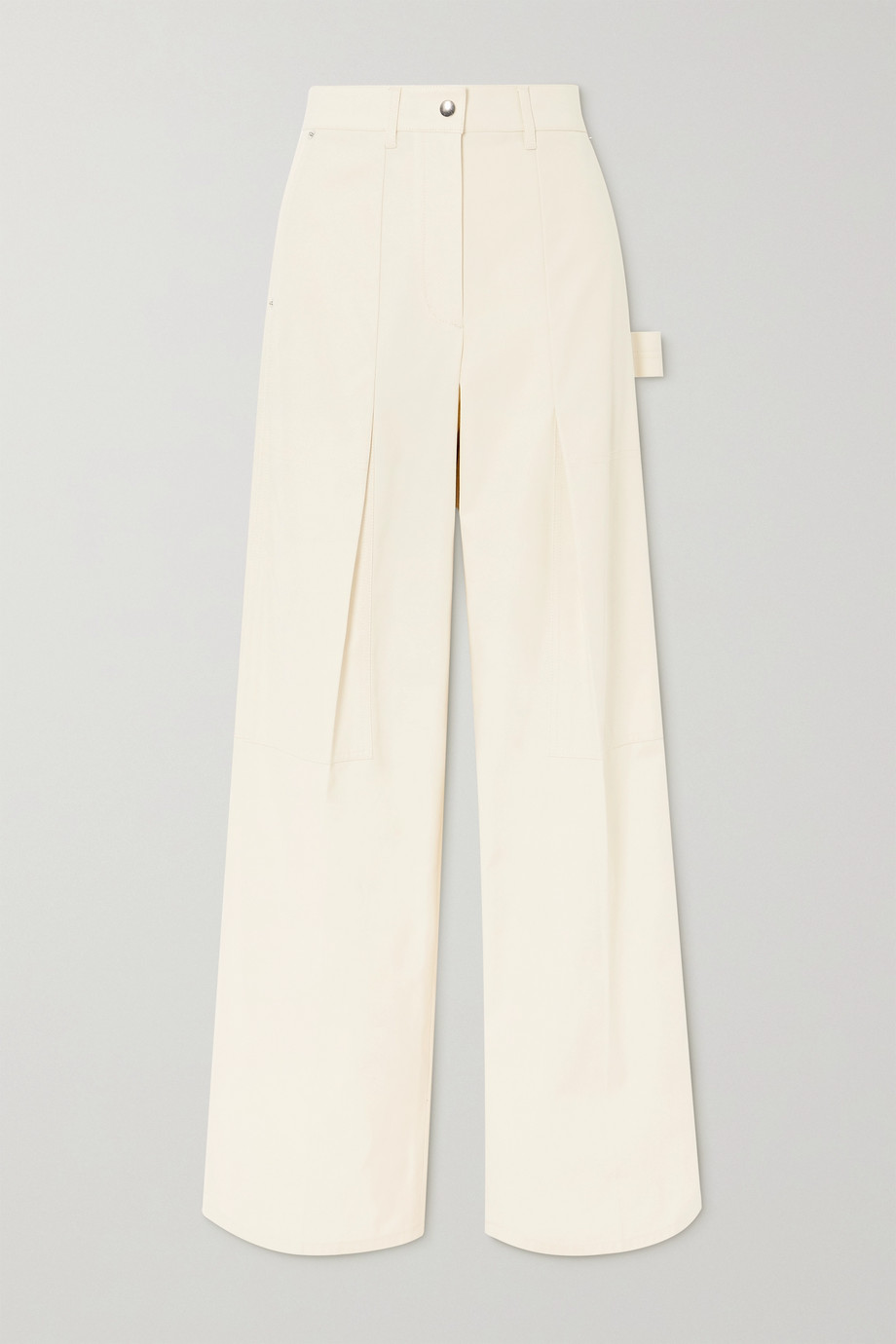 Helmut Lang Pleated cotton-twill straight-leg pants