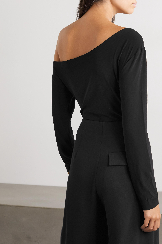 Norma Kamali One-shoulder stretch-jersey bodysuit