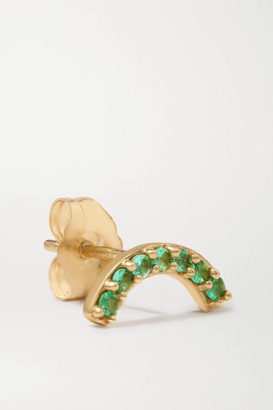 Andrea Fohrman Single Row 14-karat gold emerald earring