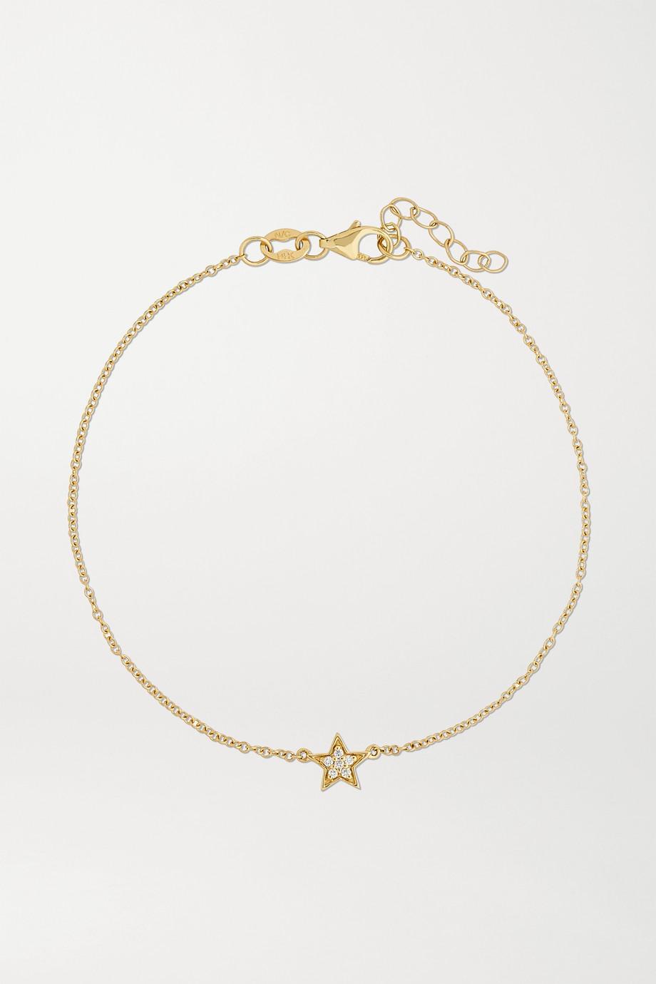 Andrea Fohrman Mini Star 14-karat gold diamond bracelet
