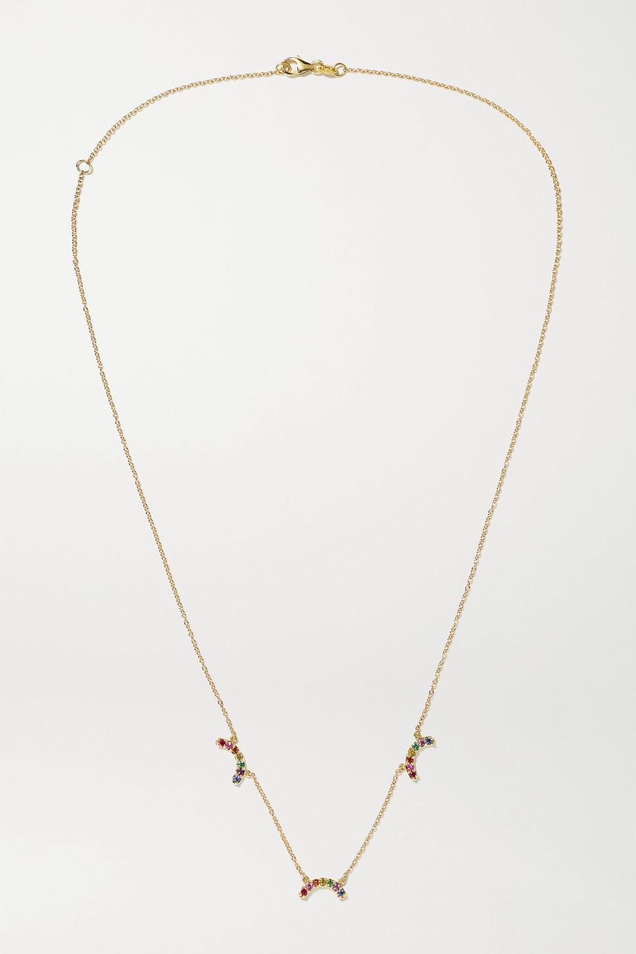 Andrea Fohrman Single Rainbow 14-karat gold multi-stone necklace
