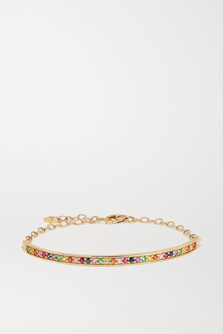 Andrea Fohrman Bracelet en or 14 carats et pierres multiples