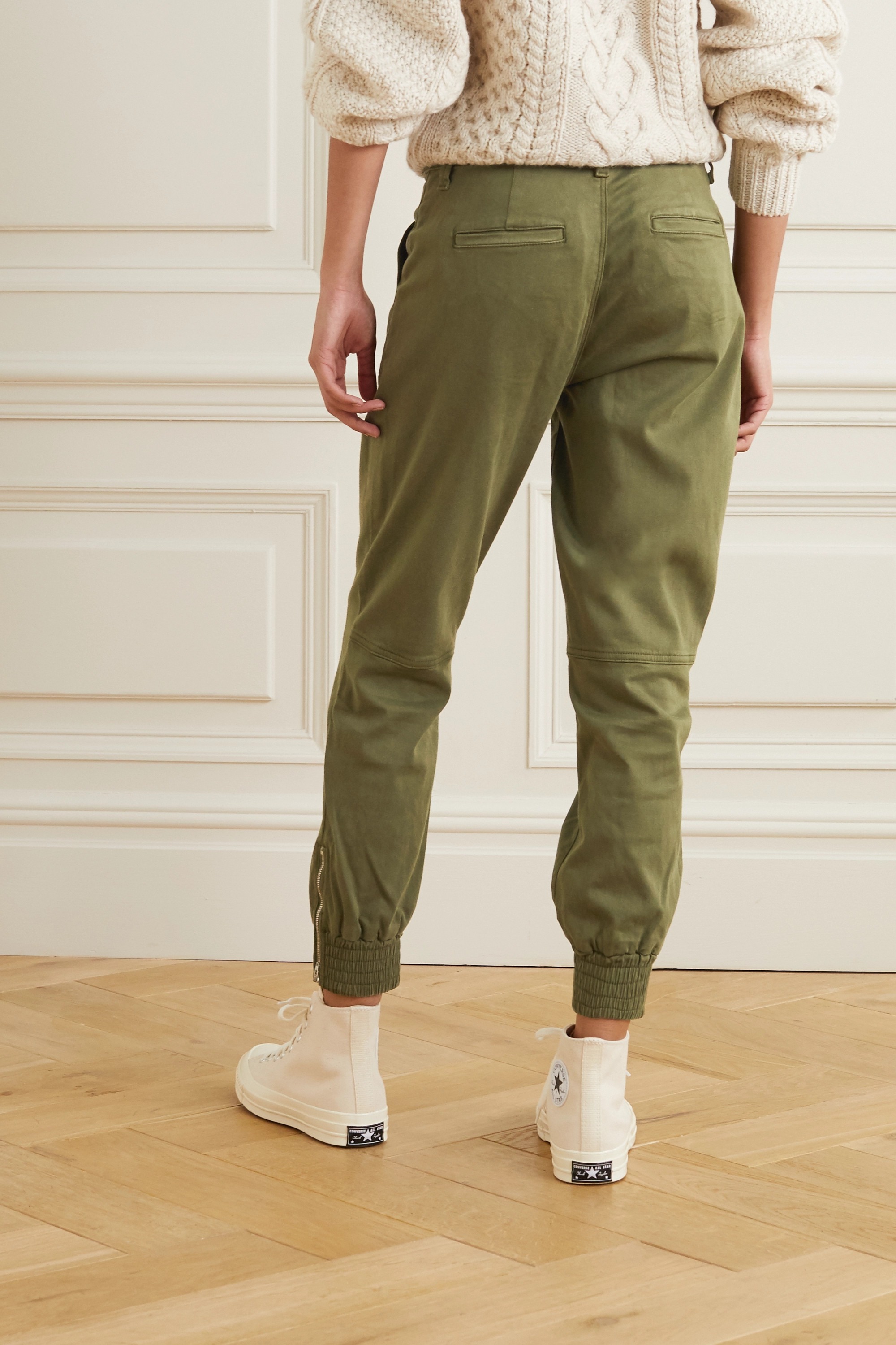 J Brand Arkin cotton-blend sateen track pants