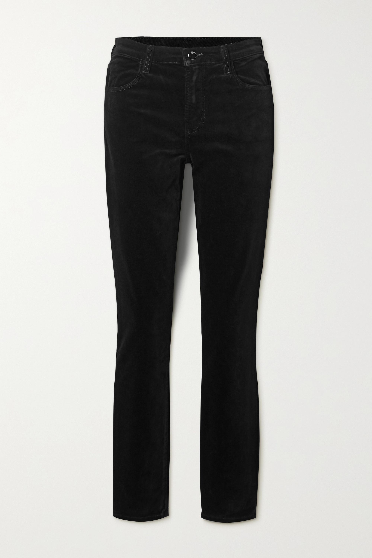 J Brand Maria cotton-blend velvet skinny pants