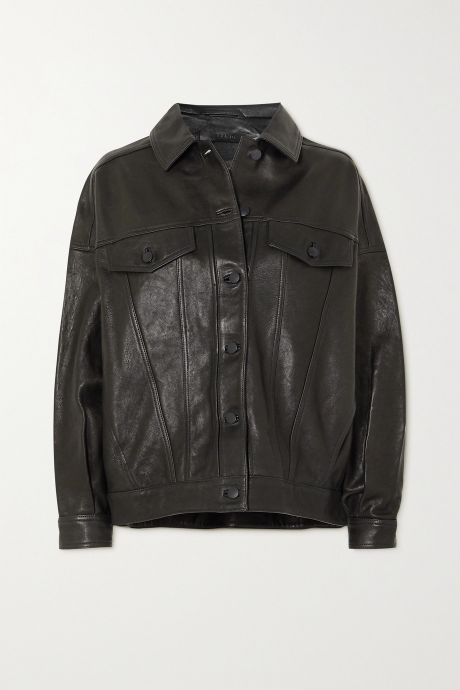 J Brand Drew oversized leather jacket