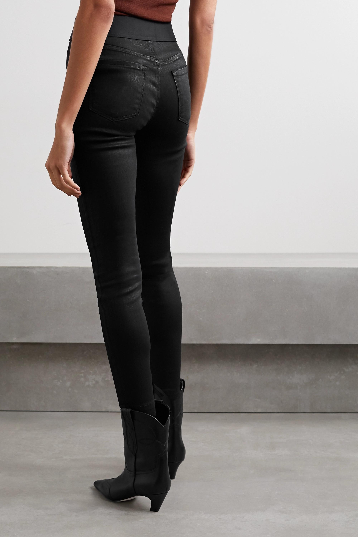 J Brand Jean skinny taille haute enduit Dellah