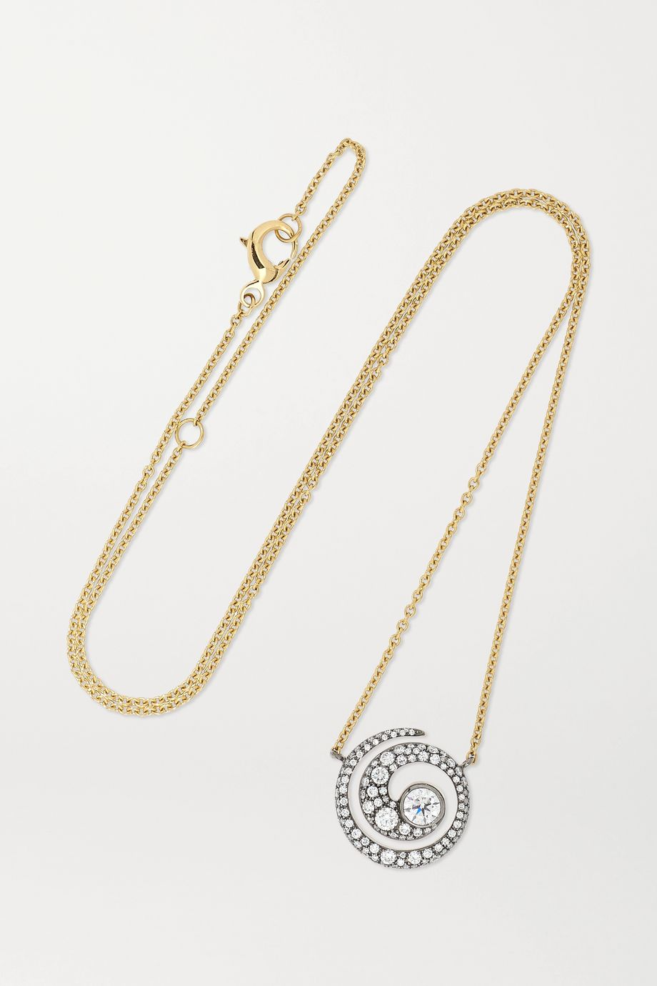 Jessica McCormack Tattoo 18-karat yellow and blackened white gold diamond necklace