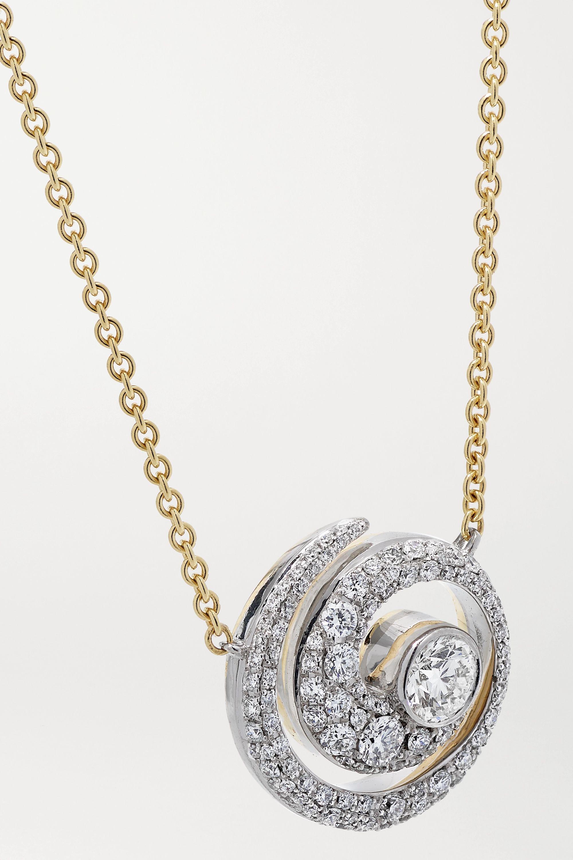 Jessica McCormack Tattoo 18-karat white and yellow gold diamond necklace