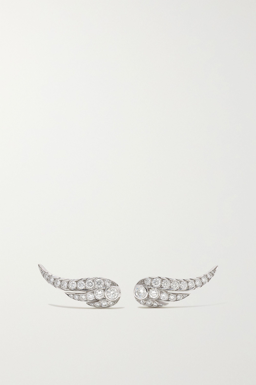 Jessica McCormack Wing of Desire 18-karat white gold diamond earrings