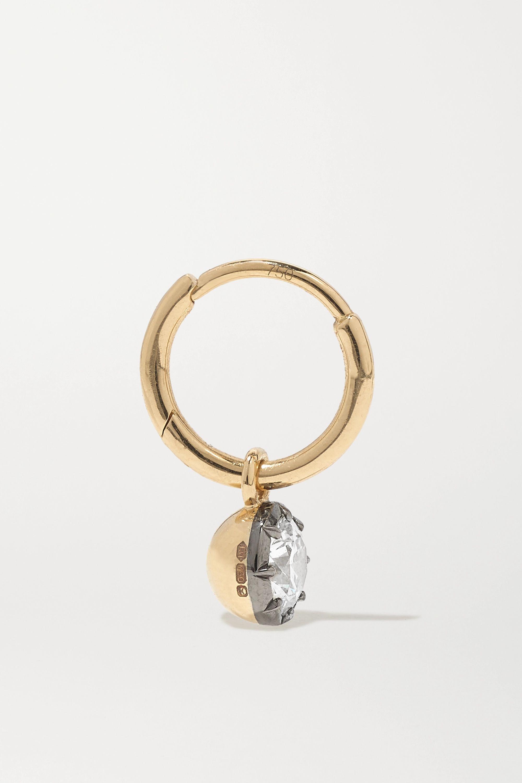 Jessica McCormack Gypset 18-karat yellow and blackened white gold diamond hoop earrings
