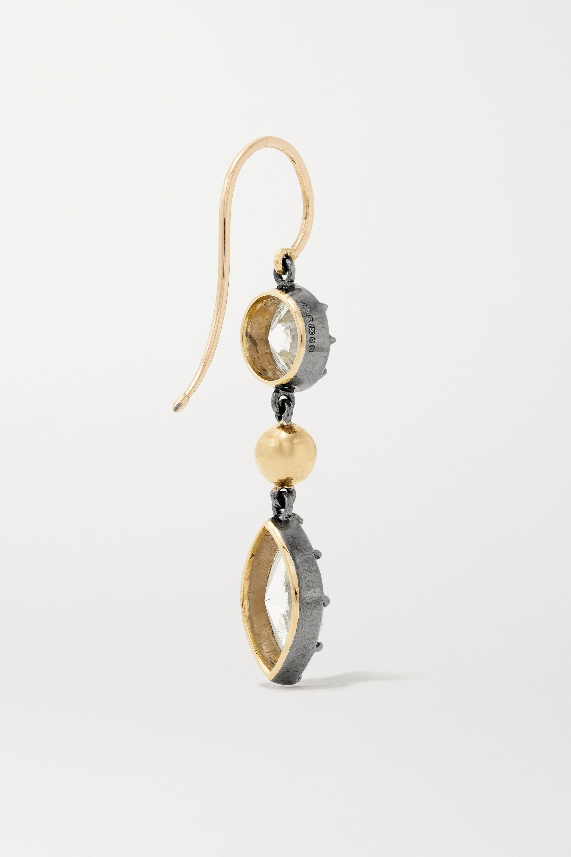 Jessica McCormack Gypset Ohrringe aus 18 Karat Gelb- und geschwärztem Weißgold mit Diamanten