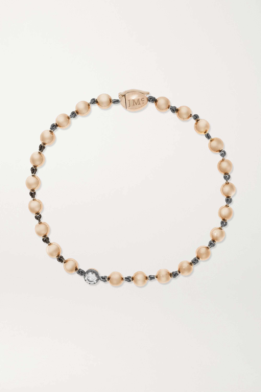 Jessica McCormack Bracelet en or rose 18 carat, platine noirci et diamant Ball n Chain