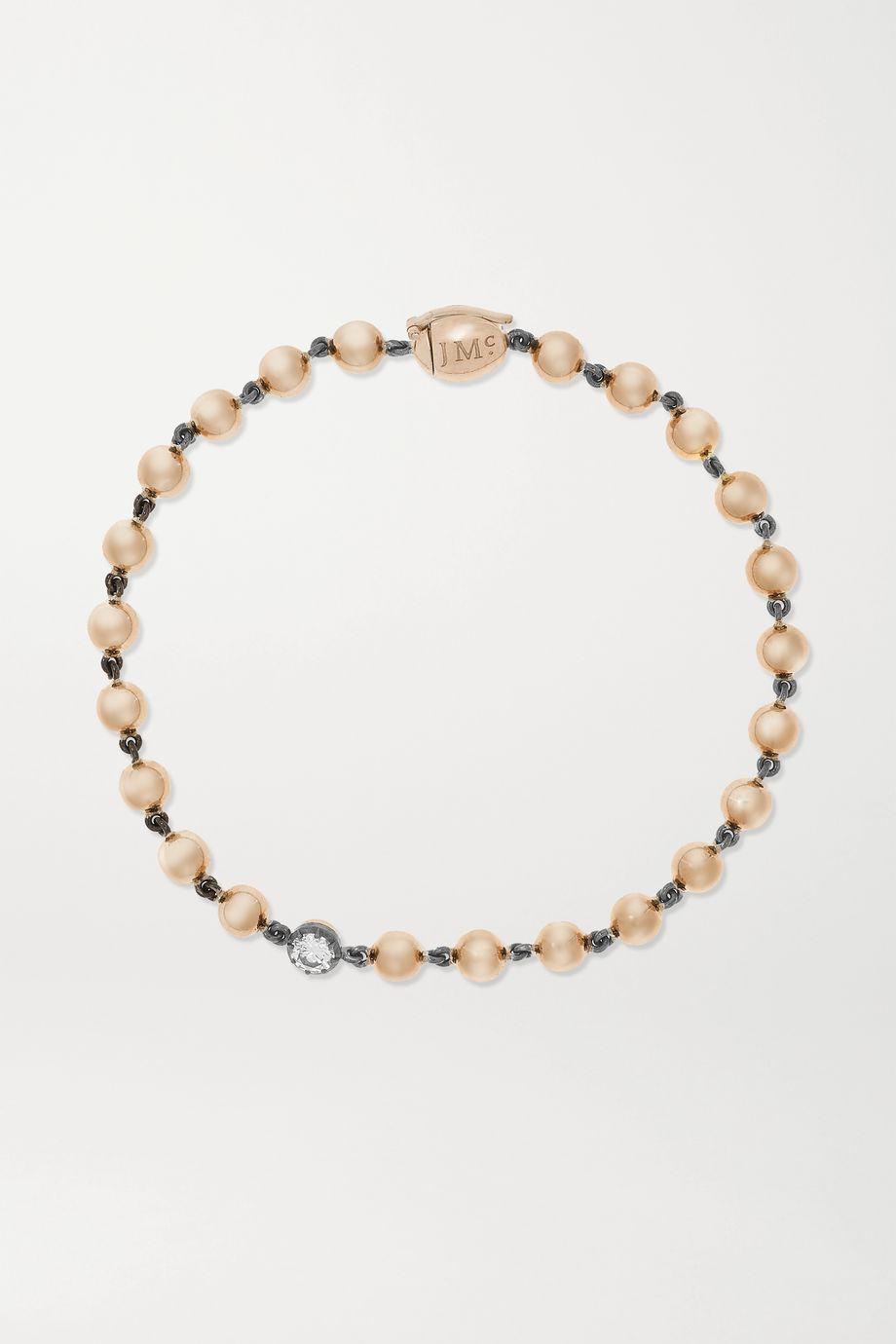 Jessica McCormack Ball n Chain 18-karat rose gold and blackened platinum diamond bracelet