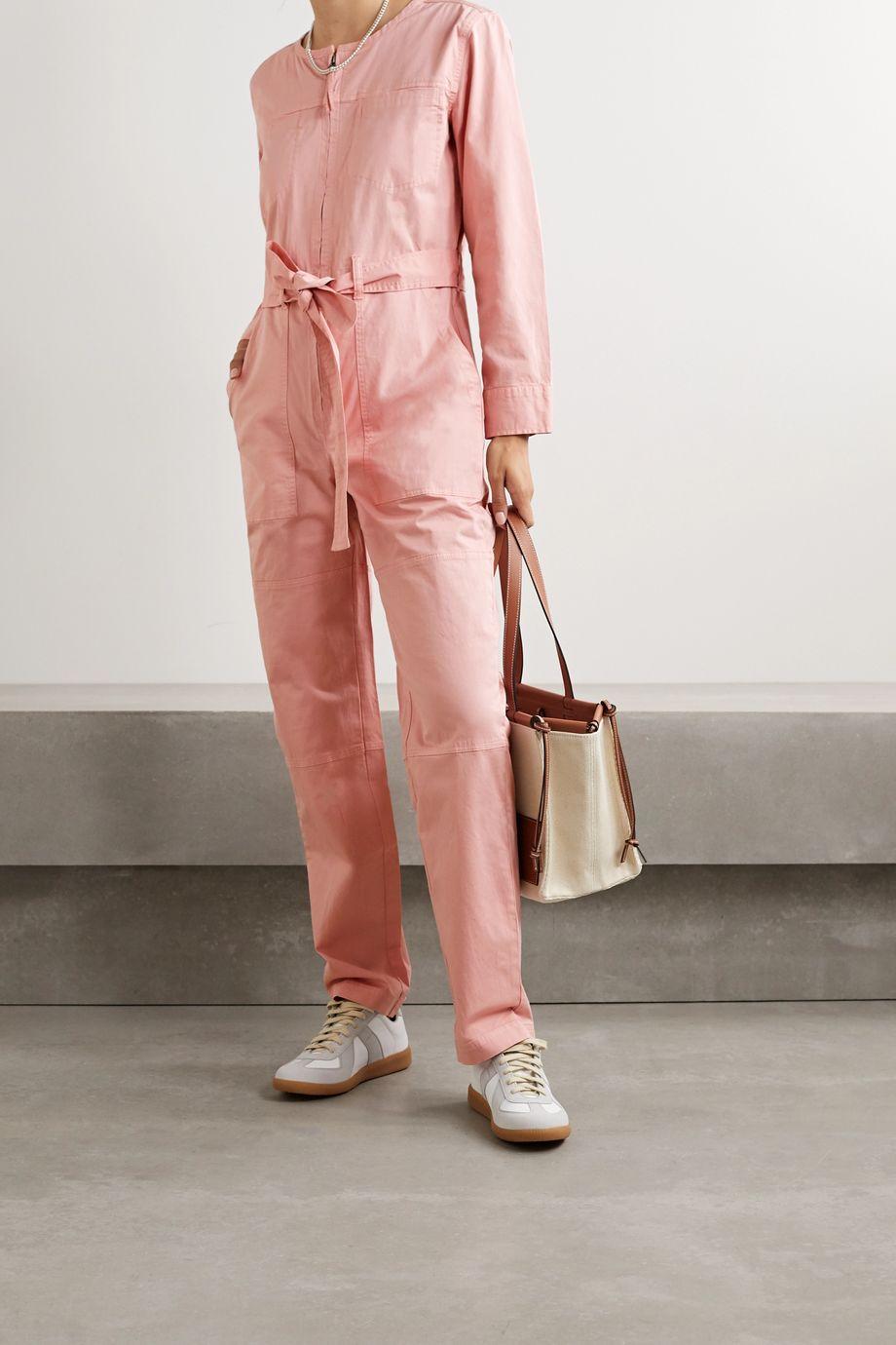 Alex Mill Jo belted cotton-blend jumpsuit