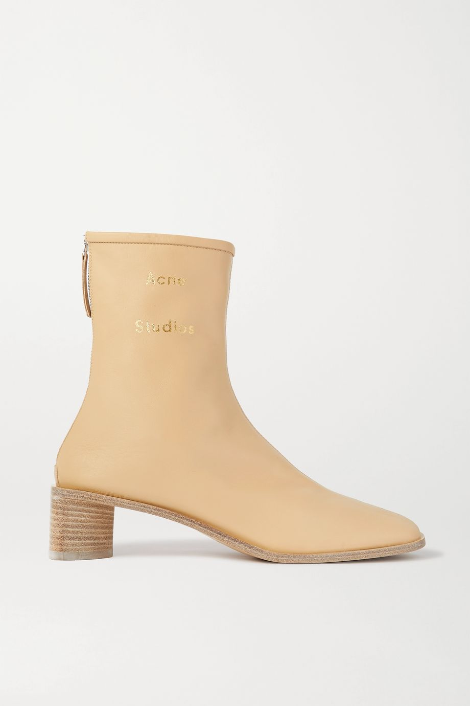 Acne Studios Logo-print leather ankle boots