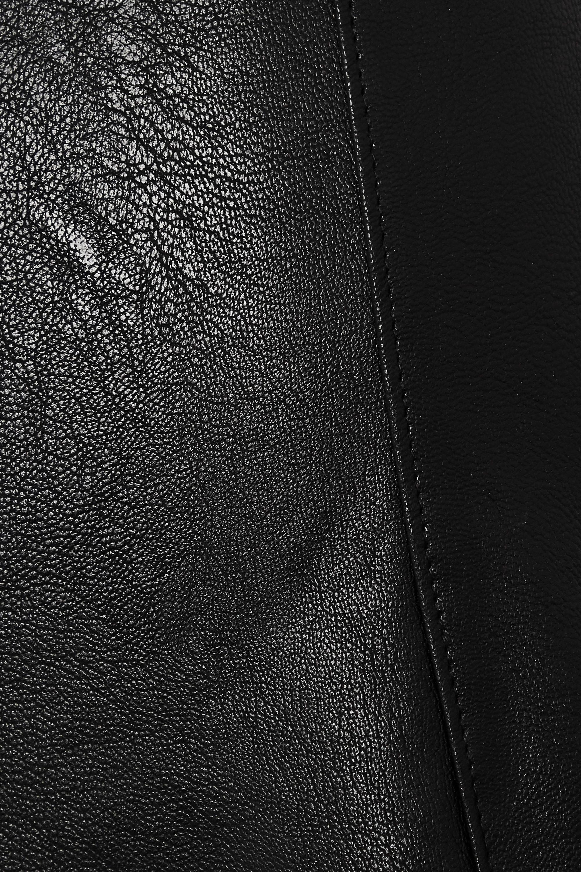 Black Faux Stretch-leather Skirt   Commando