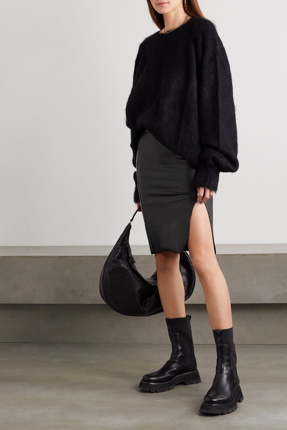 Commando Faux stretch-leather skirt