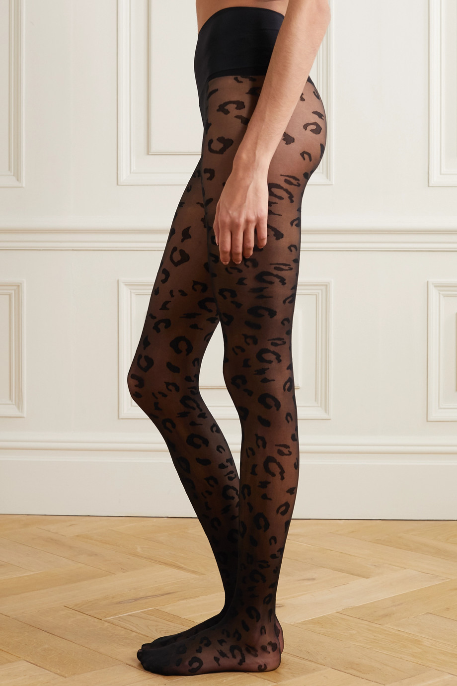Commando Stretch-jacquard tights