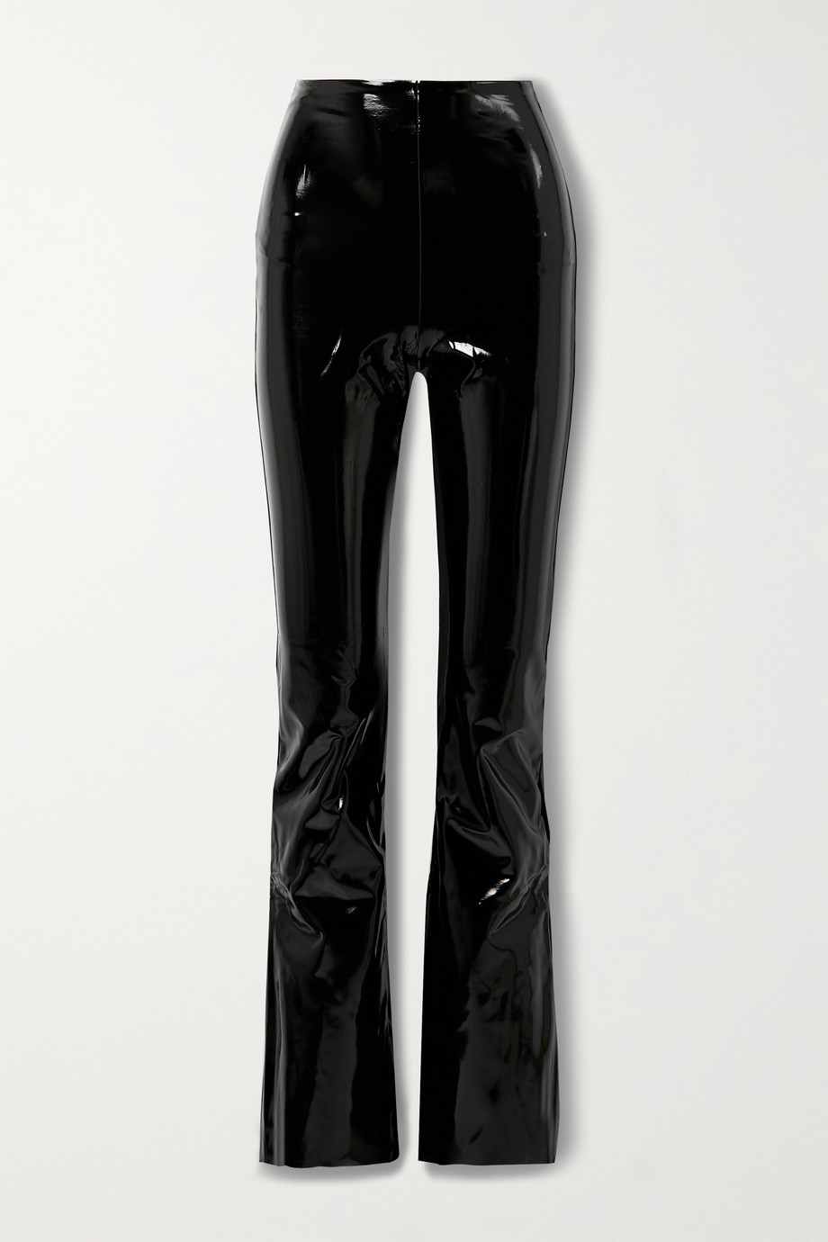 Commando Stretch faux patent-leather flared pants