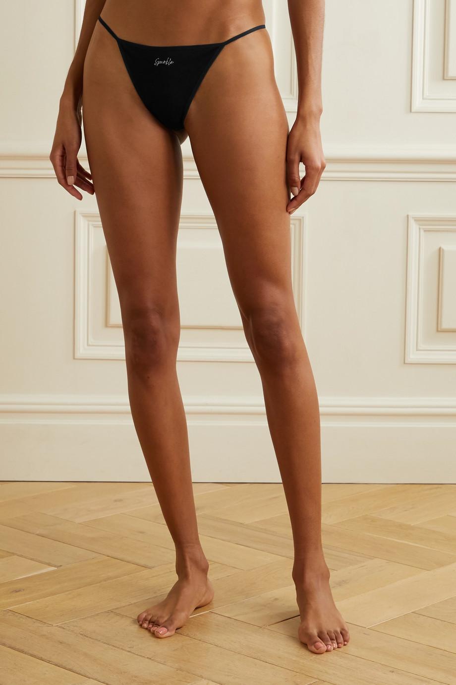 Skin + NET SUSTAIN Galila set of three stretch organic Pima cotton-jersey briefs