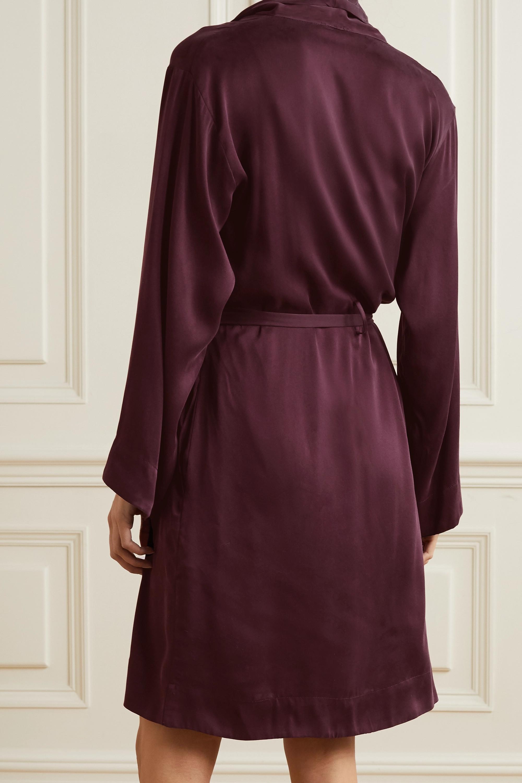 Skin Tina washed silk-blend satin robe