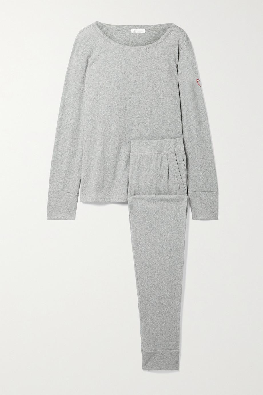 Skin + NET SUSTAIN Cassandra Pyjama aus Biobaumwoll-Jersey mit Stickerei
