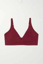 Skin + NET SUSTAIN Gracelynne stretch organic Pima cotton-jersey soft-cup triangle bra