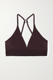 Skin + NET SUSTAIN Hadlee stretch organic Pima cotton-jersey soft-cup triangle bra