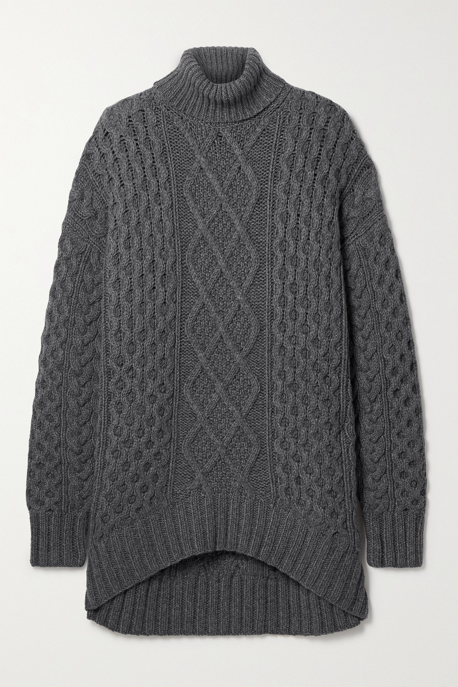Michael Kors Collection Aran oversized cable-knit cashmere turtleneck sweater