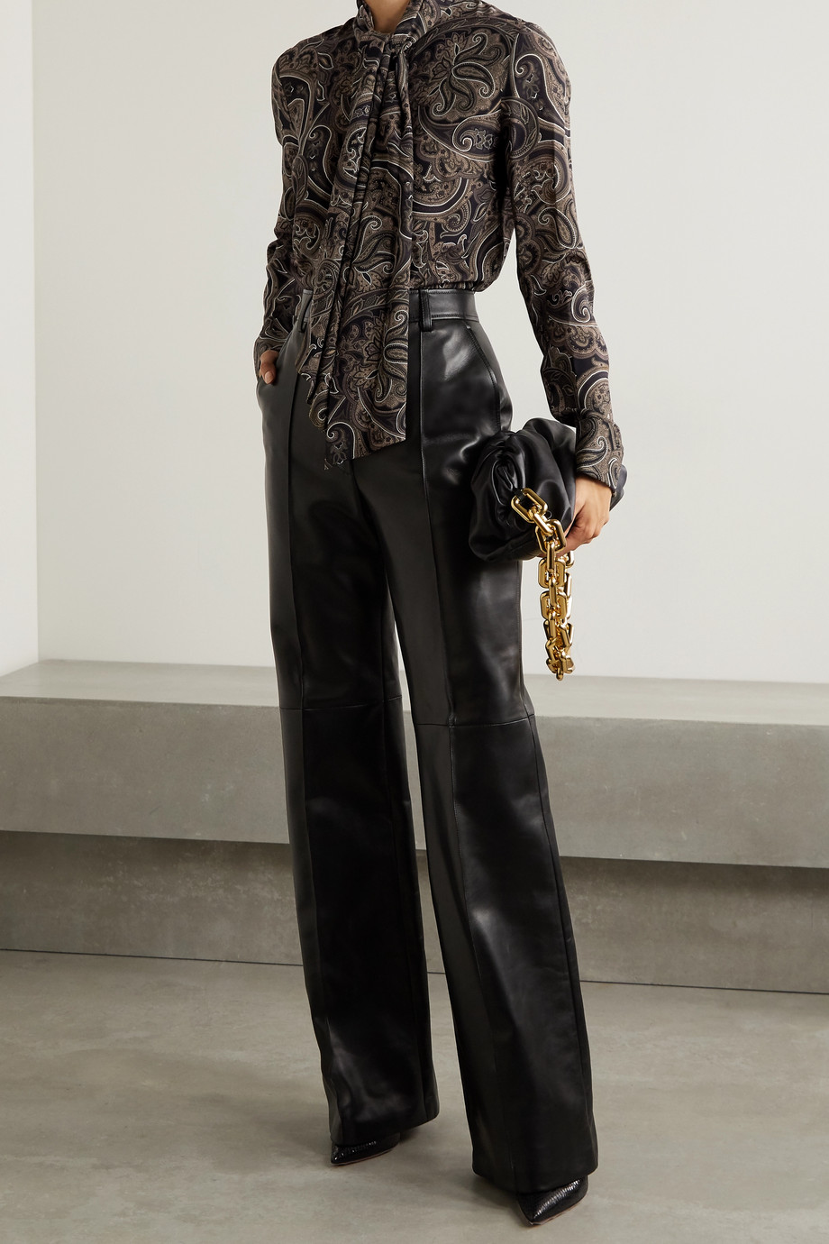 Michael Kors Collection Pussy-bow paisley-print silk-georgette blouse