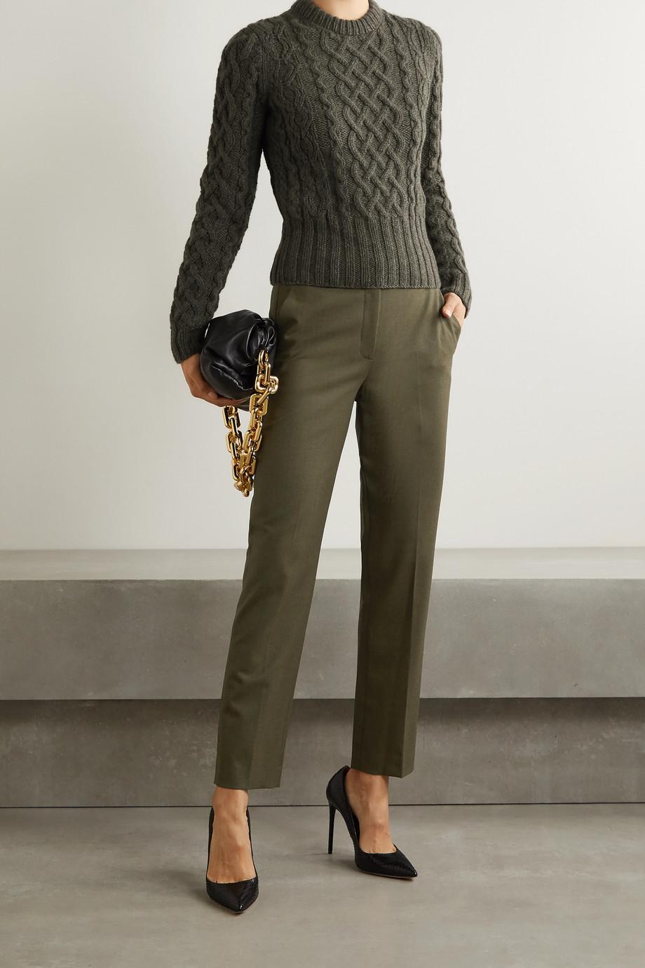 Michael Kors Collection Samantha Hose mit schmalem Bein aus einer Wollmischung