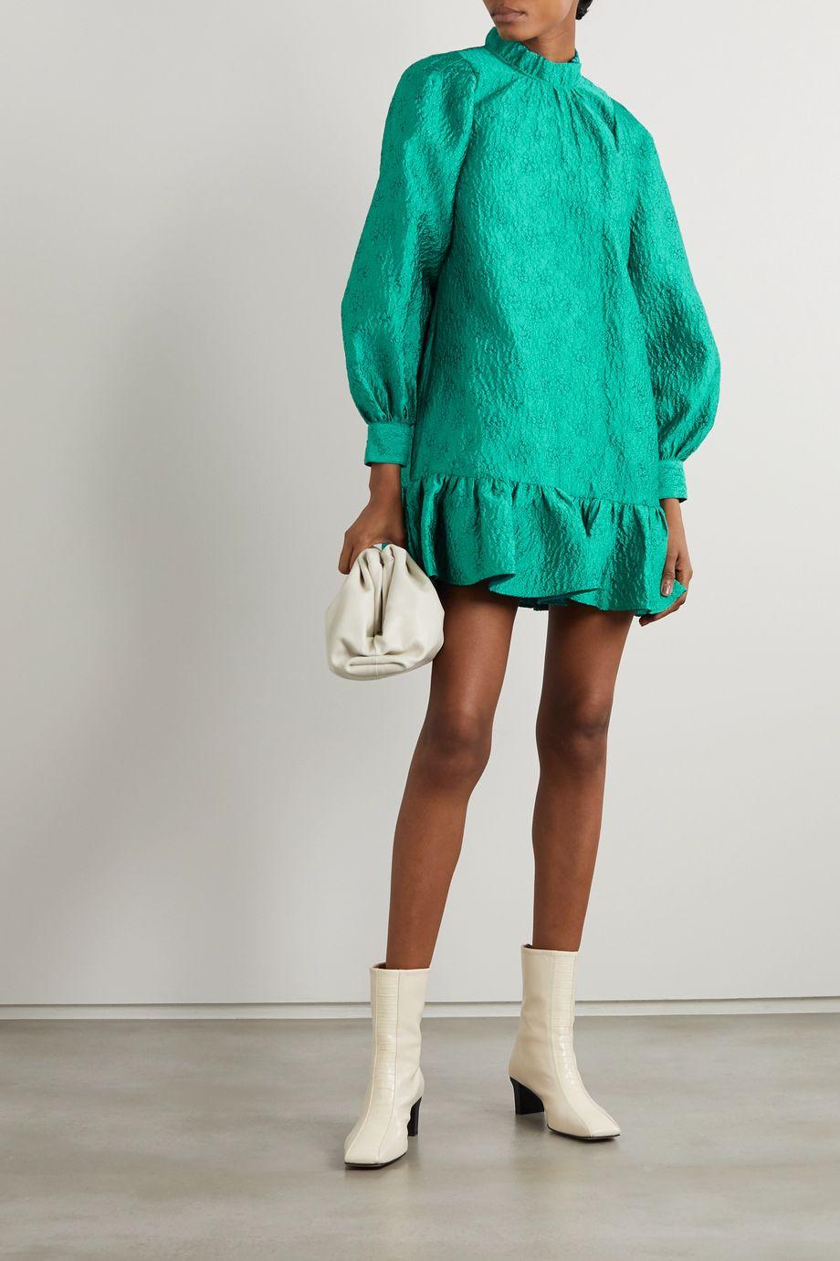 Ulla Johnson Emilia ruffled cloqué mini dress